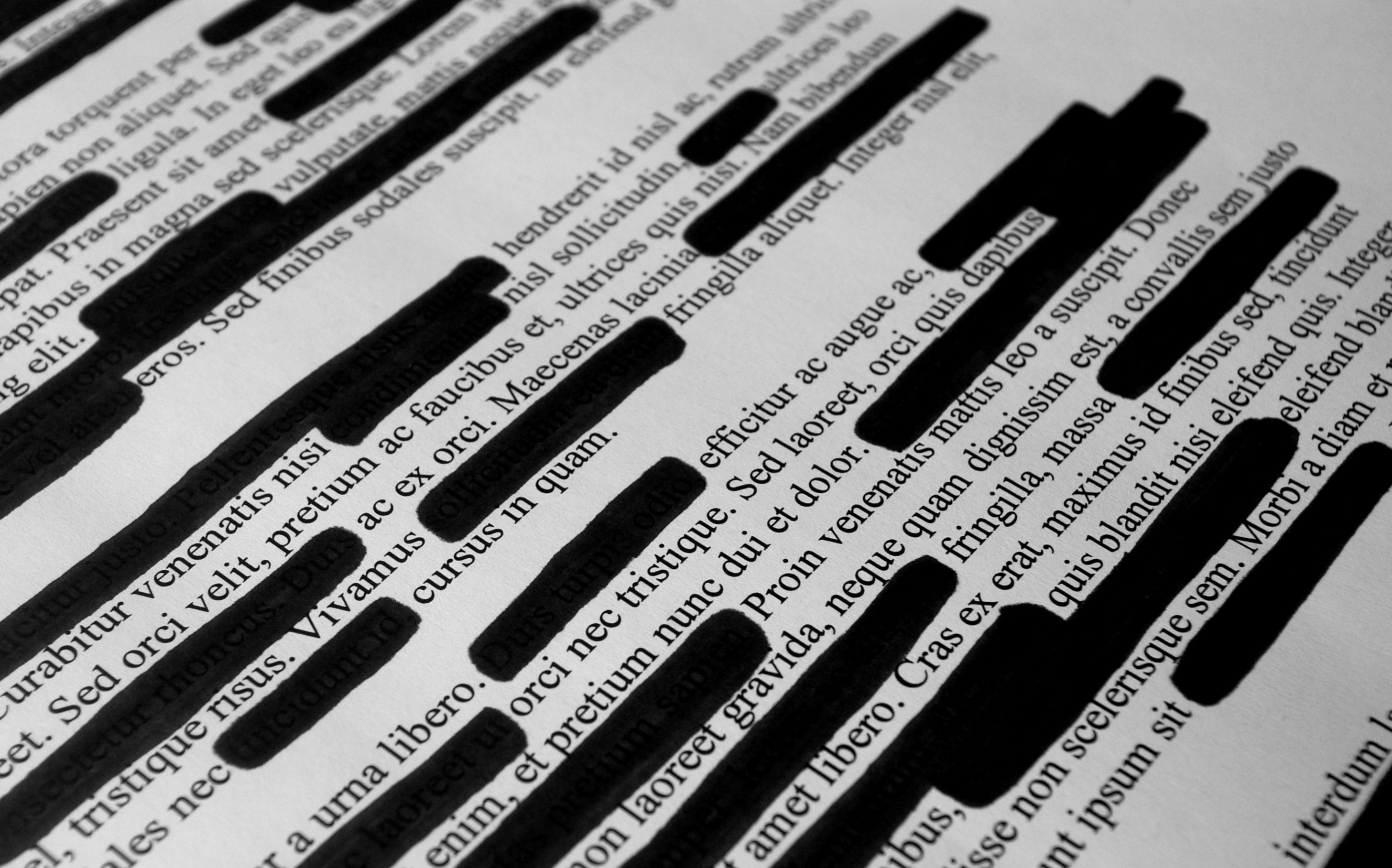 Image of redacted text